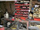Assorted Tools, Parts and Racks, Contents Of Work Benches