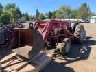 "Ford 2 Wheel Drive Tractor, Gas, Manual, 491/2"" Loader Bucket and 72"" Gannon Box Attachments"