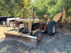 Ford 2 Wheel Drive Tractor, Back Ho and Blade Attachments