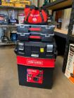 Craftsman Multi Level Workshop and Craftsman Tool Bag with 20v Battery and Charger