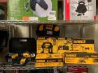 DeWalt Power Tools, Drill Driver, Impact Driver, Grinder, 15 degree Roofing Nailer, Power inverters, 8pcs