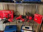 "Craftsman Power Tools, 18"" Gas Chainsaw, 20v Brad Nailer, Angle Grinder, Sander, Drill and Work Light, 6pcs"
