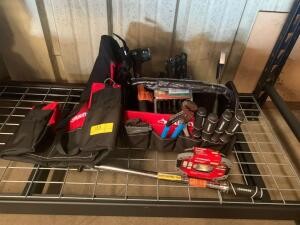 Husky Tool Bags and Box with Assorted Tools