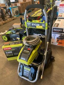 "Ryobi 2300psi Electric Pressure Washer with 12"" Surface Cleaner Attachment"