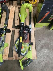 Ryobi Cordless Weedeater and Blower, includes Charger and Battery