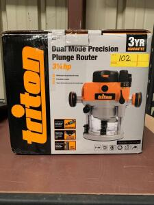 Triton Dual Mode Precision Plunge Router, 3/4Hp