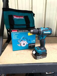 "Makita 18v Drill Driver and 4 ⅜"" Electric Cutter, 2pcs"