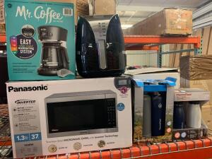 Panasonic Microwave Oven. Air Frayer. Thermoflask 2 pc. Mr. Coffee. Thermoflask 2 pc