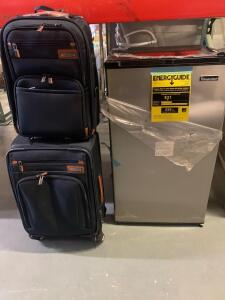 Luggage and Mini Fridge, 3pcs