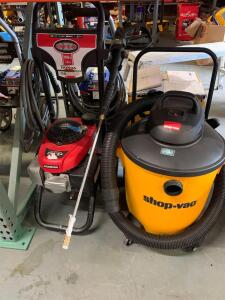 Shop vac 13 gallon Simpson 3000 psi 2.4 GPM Honda GCV 190 gas pressure washer
