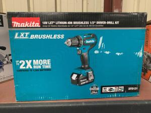 "Makita LXT Brushless 18V ½"" Drill Driver Kit"