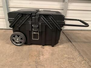 Husky 15 Gallon Cantilever Rolling Job Box