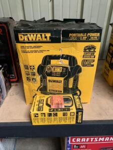 DeWalt Jump Box, 1400amps, includes DeWalt 140W Power Inverter