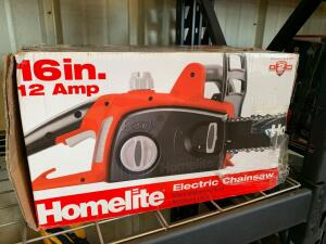 "Homelite 16"" 12amp Electric Chainsaw"