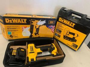 Dewalt 20vMax Cordless Cable Stapler. Kit / Dewalt 16 GA Precision point Finish Nailer