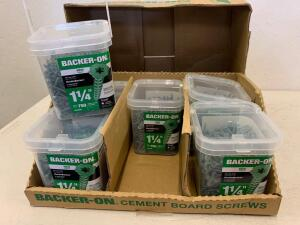 6 boxes Backer-ON for use With HardieBacker 1 1/4""