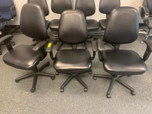 Armed Rolling Task Chairs, 3pcs