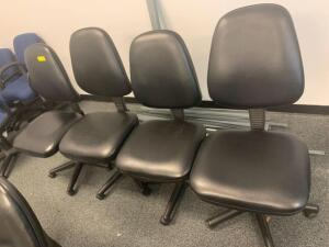 Rolling Task Chairs, 4pcs