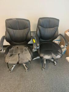 Armed Rolling Task Chairs, 2pcs
