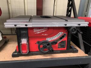 Milwaukee 81/4in Cordless Table Saw, Tool Only, Missing Blade and Blade Guard