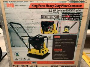 Unused TMG King Force Heavy Duty Plate Compactor, 6.5hp Lincoln G200F Engine
