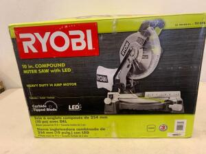 RYOBI 10 in. Compound Miter Saw with LED
