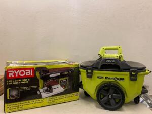 RYOBI 4 in x 36 in. Belt and 6 in. Disc Sander / Ryobi 18v ONE + 6 gallon wet/ Dry vacuum Tool Only