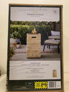 "THRESHOLD Quality & Desing 27 "" Tall. Chisholm Outdoor Gas Fire Column"