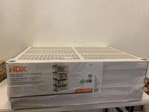 HDX Gray 5-Tier Plastic Garage Storage Shelving Unit (36 in. W x 72 in. H x 24 in. D) As Es