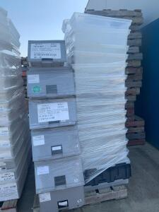 Assorted Totes and Drawers, Contents of Pallet