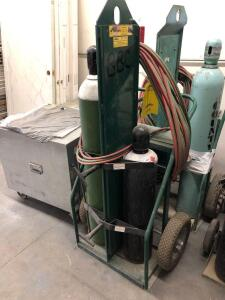 Cutting Torch/ Welding Tanks with Cart