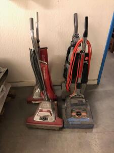 Assorted Upright Vacuums, (3) Commercial grade, (1) Household Grade, 4 pcs