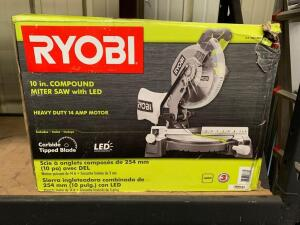 Ryobi 10in Compound Miter Saw with LED