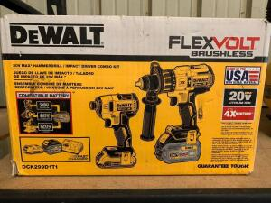 DeWalt 20V Max Hammerdrill & Impact Driver Combo Kit, Includes Battery and Charger