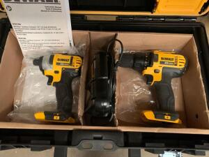 DeWalt 20V Max Drill Driver and Impact Driver Kit, Tools and Charger Only