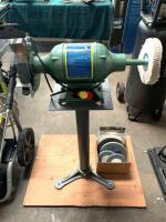 Central Machinery 8in Bench Grinder/Buffer, includes Pedestal and Extra Wheels - 2