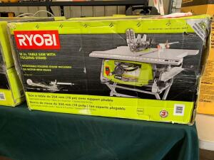 Ryobi 10in Table Saw With Folding Stand