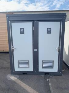 Unused Bastone Dual Mobile Toilet, Sinks, Lights, Lifting Shackles, Vents and Toilets, 81in x 50 1/2in x 90in