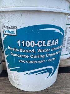 WR Meadows Seal Light 1100-Clear Resin Based Water emulsion Concrete Curing Compound, (9) 5 Gallon Buckets