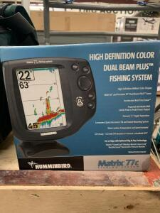 Humminbird Matrix 77c Fish Finder, and (2) Lure/Line Supply Bags