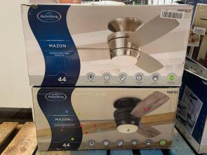 Harbor Breeze 44in Mazon Ceiling Fans, Assorted Colors, 2pcs