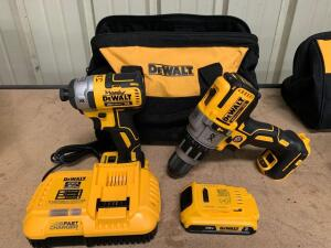 DeWalt 20V Drill Driver and Impact Driver Kit, Includes (1) Battery, Charger and Bag