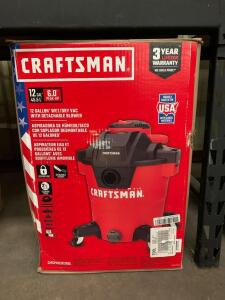 Craftsman 12 Gallon Wet/ Dry Vac with Detachable Blower
