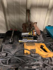 DeWalt Reciprocating Saw, central Pneumatic 3in High Speed Cutter, Torque Wrench and Boat Anchor