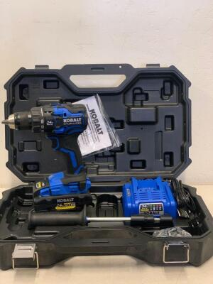 KOBALT XTR 24-V Max 1/2 in Brushless Cordless Drill Battery and Charger Included