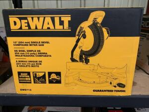 DeWalt 10in Single Bevel Compound Miter Saw, dws713, inv #c4062