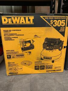 DeWalt Nailer and Compressor Combo Kit, dwfp12233, inv #c4065