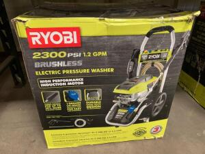 Ryobi 2300psi Brushless Electric Pressure Washer, inv #c4193