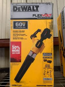 DeWalt 60V Max 3Ah Axial Handheld Blower, with battery and Charger, dcbl772x1, inv #c4078