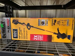DeWalt 60V 15in Brushless String Trimmer (tool only), dcst970x1s, inv #c4181